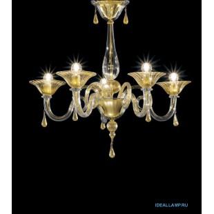 Люстры потолочные 1380/5 D CR.ORO Sylcom Италия