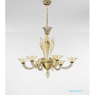 Итальянские подвесные светильники  Sylcom 1430/6 D FU ORO Sylcom Италия