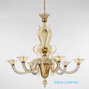 Итальянские подвесные светильники  1431/6 D FU Oro Sylcom Италия
