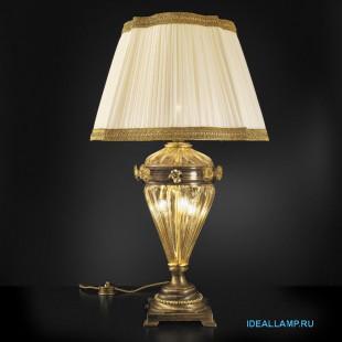 Настольные лампы (С абажуром) 1669 BRU ORO+TOP 1669 ORO Sylcom Италия