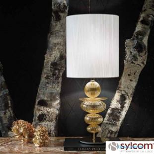 Настольные лампы (С абажуром) 2062 D ORO + TOP 2062 BIA Sylcom Италия