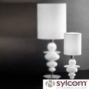 Настольные лампы (С абажуром) 2060 K BL + TOP 2060 BIA Sylcom Италия